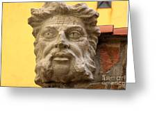 Face Onwall In Venice Greeting Card