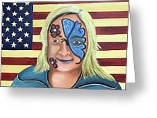 Face Paint And Freedom Greeting Card