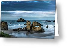 Face Rock Beach  Greeting Card