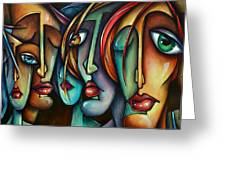 'face Us' Greeting Card
