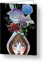 Face Vase Greeting Card