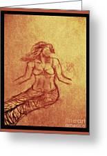 Faceless Mermaid Greeting Card