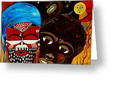 Faces Of Africa Greeting Card