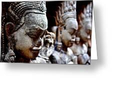 Faces Of Angkor Greeting Card