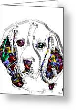 Faces Of Life 37 Beagle Greeting Card