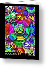 Faces Of Time 1 Greeting Card
