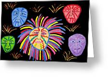 Faces Out Of The Dark  Greeting Card