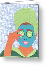 Facial Masque Greeting Card