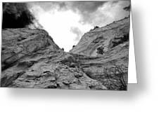 Facing Rock Greeting Card