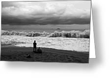 Facing The Storm Greeting Card by Kim Lagerhem