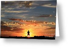 Facing The Sun Greeting Card