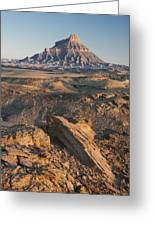 Factory Butte 0768 Greeting Card