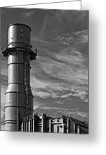 Factory Tower Greeting Card