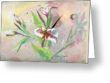 Faded Lilies Greeting Card