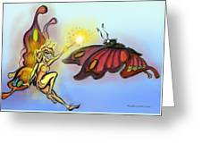 Faerie N Butterfly Greeting Card