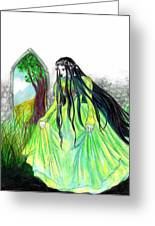 Faerie Queen Greeting Card by Rebecca Tripp