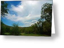 Faint Rainbow  Greeting Card