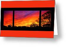 Fair Oaks Sunset Greeting Card
