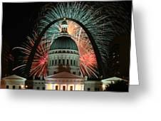 Fair St Louis Fireworks Greeting Card