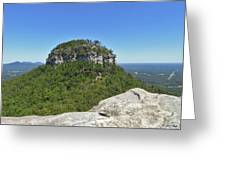 Fair Weather At Pilot Mountain Greeting Card