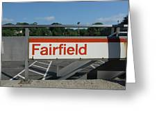 Fairfield Train Station  Greeting Card