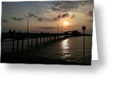 Fairhope Pier At Dusk Greeting Card