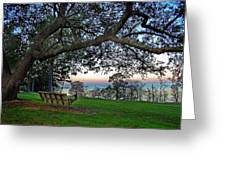 Fairhope Swing On The Bay Greeting Card