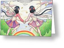 Fairies In Moonlight Greeting Card