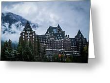 Fairmont Springs Hotel In Banff, Canada Greeting Card