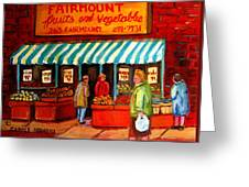 Fairmount Fruit And Vegetables Greeting Card