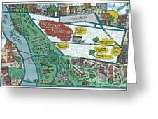 Fairmount Neighborhood Map Greeting Card