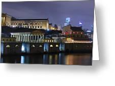 Fairmount Waterworks And Art Museum At Night Greeting Card