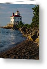 Fairport Harbor Lighthouse Panoramic Greeting Card