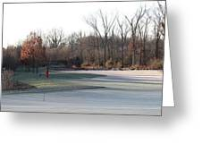 Fairway Hills - 7th - Beware Of The Tree And The Pond Panorama Greeting Card