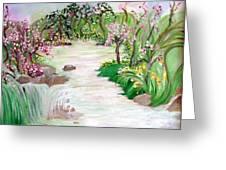 Fairy Blossom Falls Greeting Card