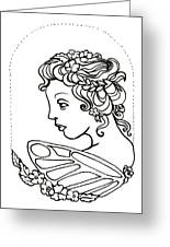 Fairy Cameo Greeting Card