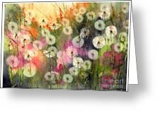 Fairy Dandelions Fields Greeting Card