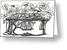 Fairy Hacienda With Floral Roof Greeting Card