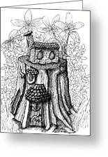 Fairy House Stump With Penthouse Greeting Card