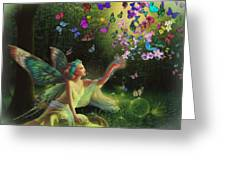 Fairy Of The Butterflies Greeting Card