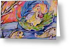 Fairy On The River. Greeting Card