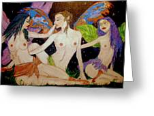 Fairy Sisters Of The Night Greeting Card