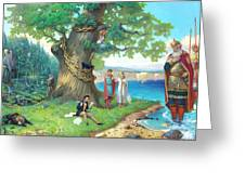 Fairy-tale Pushkin Lukomorye Greeting Card