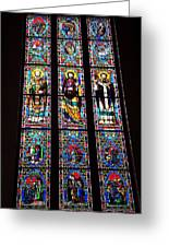 Faith In Stained Glass  Greeting Card
