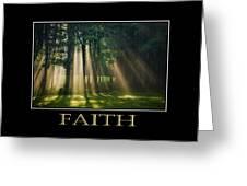 Faith Inspirational Motivational Poster Art Greeting Card