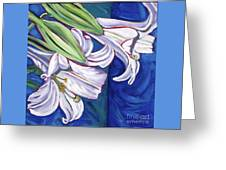 Faith Lily Two Greeting Card