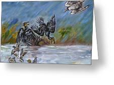 Falcon Attack  Greeting Card
