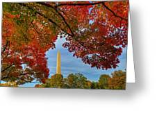 Fall 2015 Washington Dc Greeting Card
