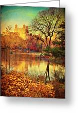 Fall Afternoon In Central Park Greeting Card