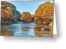 Fall Along The Frio River Greeting Card